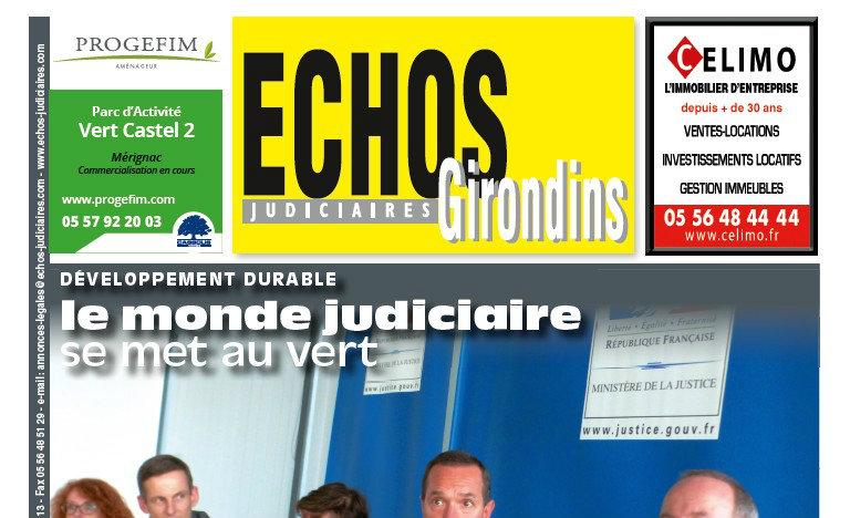 Journal d'annonces légales Les Echos Judiciaires Girondins