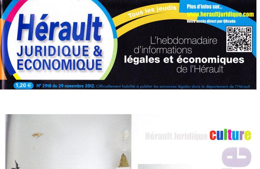 Journal d'annonces légales L'Hérault Juridique et Economique