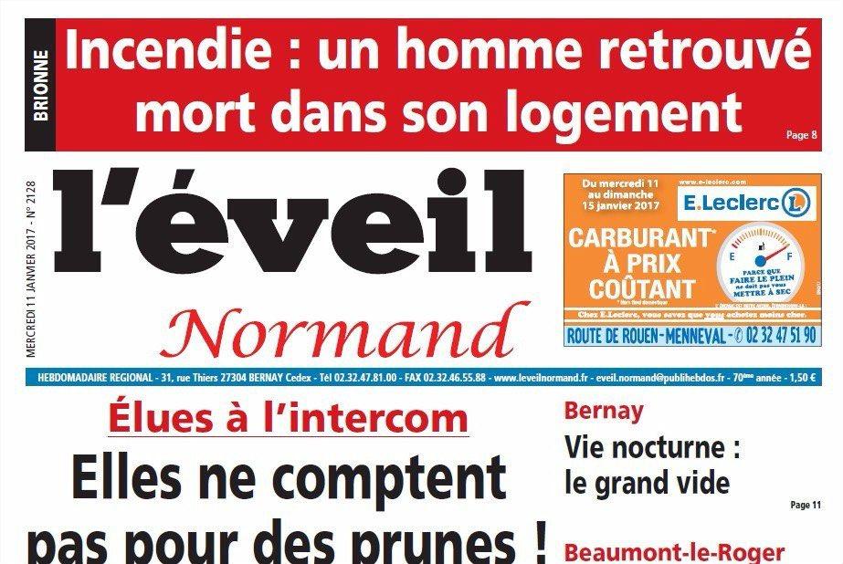 Journal d'annonces légales L'Eveil Normand