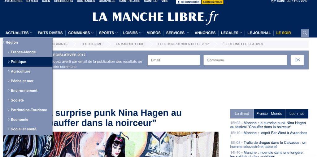 Journal d'annonces légales La Manche Libre