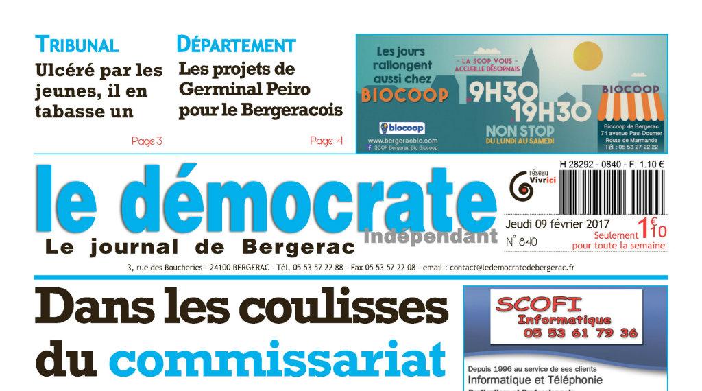 Journal d'annonces légales Le Démocrate Indépendant