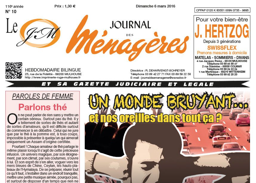 Journal d'annonces légales Le Journal des Ménagères