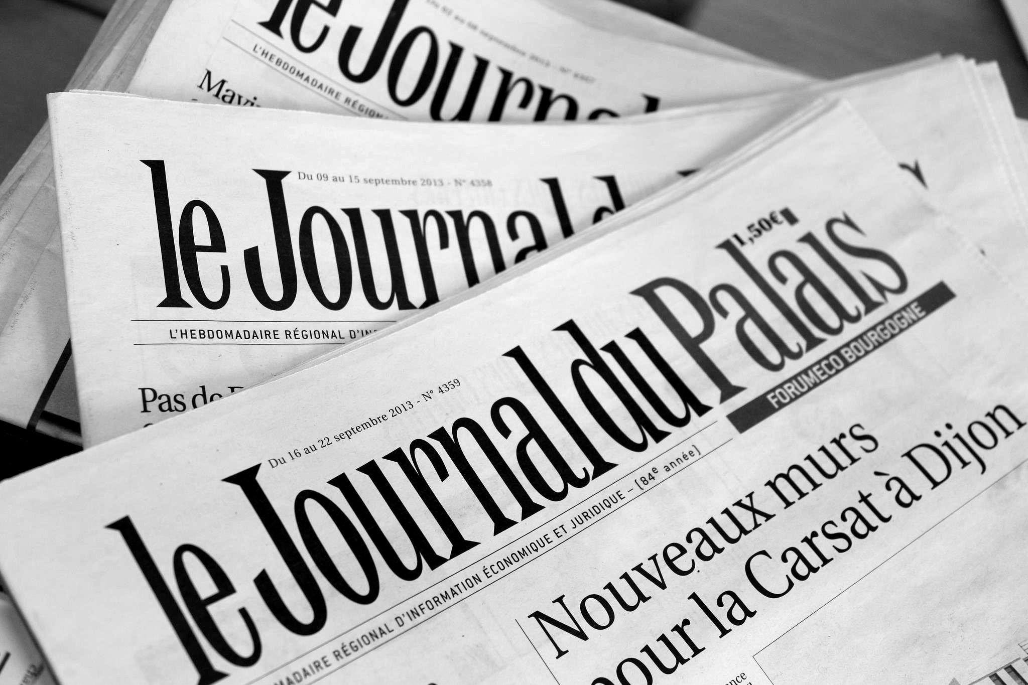 Journal d'annonces légales Le Journal du Palais