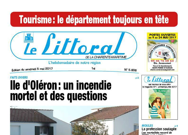 Journal d'annonces légales Le Littoral de la Charente-Maritime