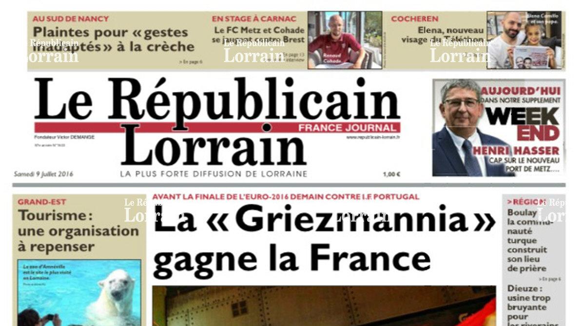 Journal d'annonces légales Le Républicain Lorrain