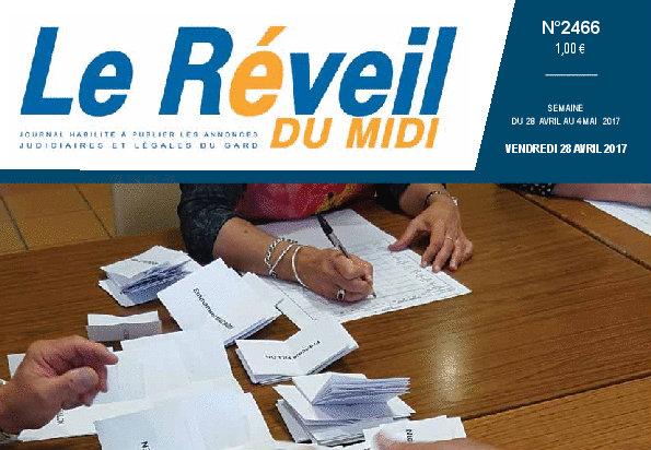 Journal d'annonces légales Le Réveil du Midi