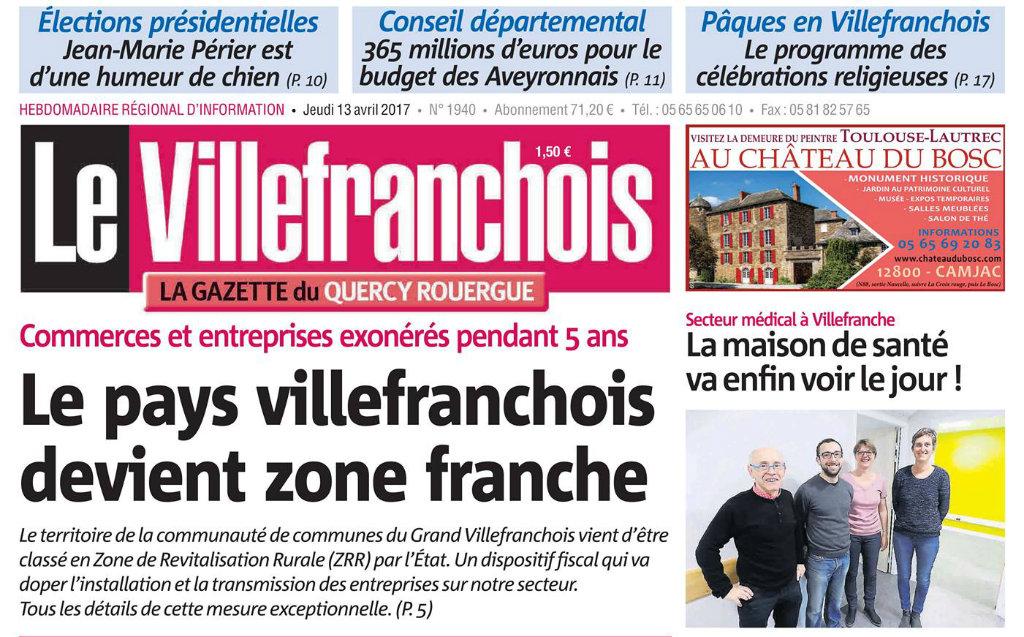 Journal d'annonces légales Le Villefranchois