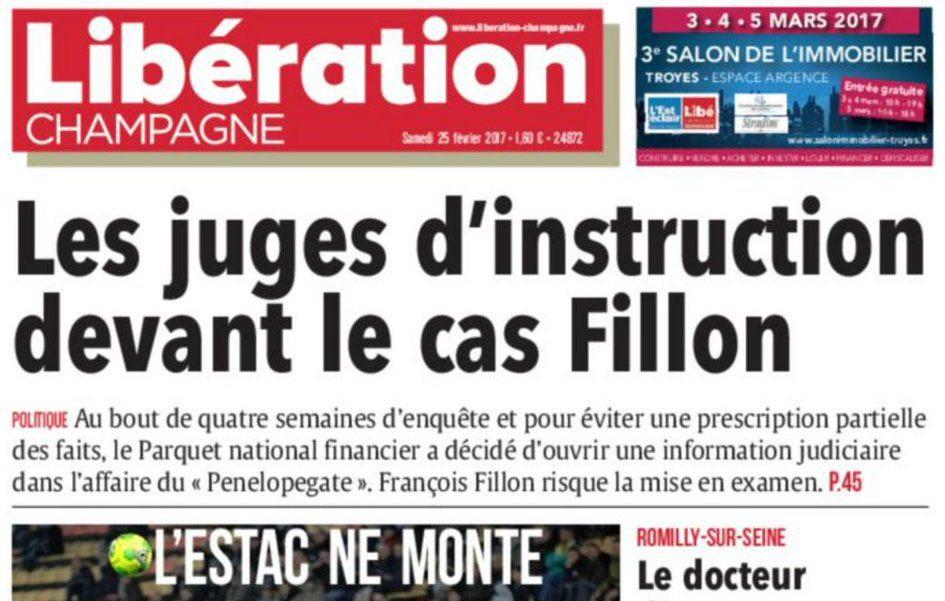 Journal d'annonces légales Libération Champagne