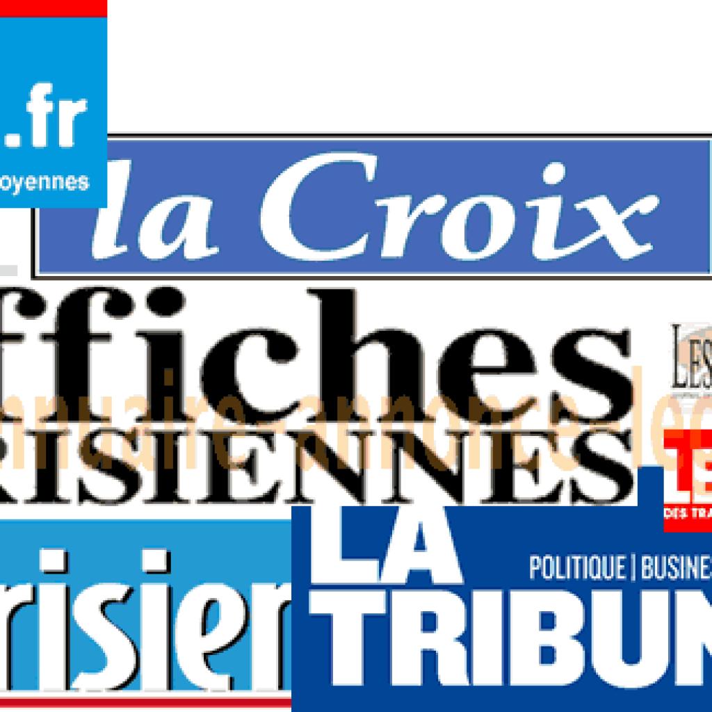 Journaux d'annonces légales département de Paris