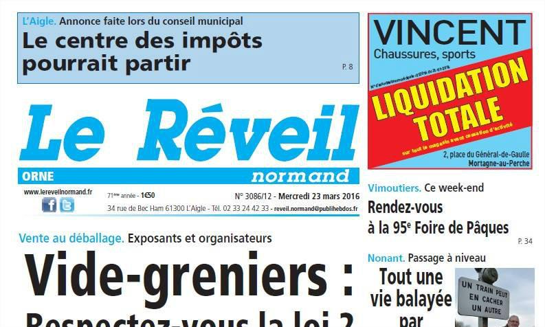 Journal d'annonces légales Le Réveil Normand
