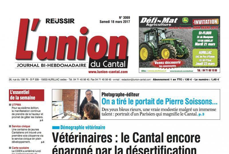 Journal d'annonces légales L'Union Cantal