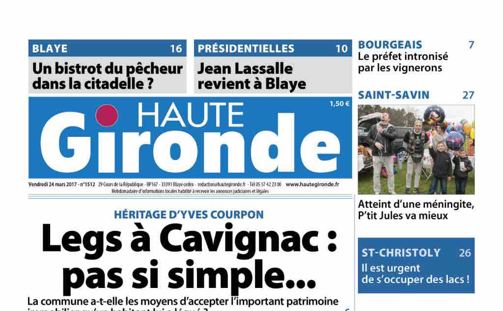 Journal d'annonces légales Haute Gironde Le Journal