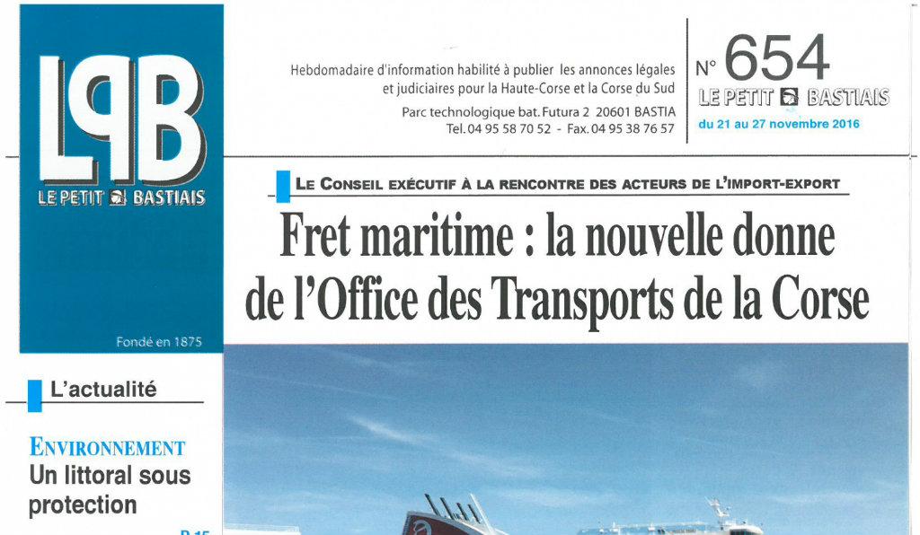 Journal d'annonces légales Le Petit Bastiais