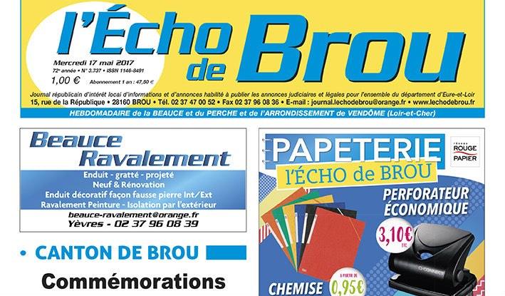 Journal d'annonces légales L'Echo de Brou