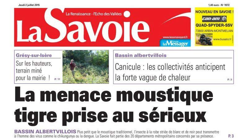 Journal d'annonces légales La Savoie