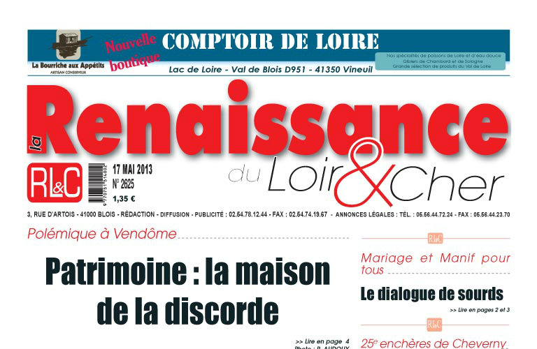 Journal d'annonces légales La Renaissance du Loir-et-Cher