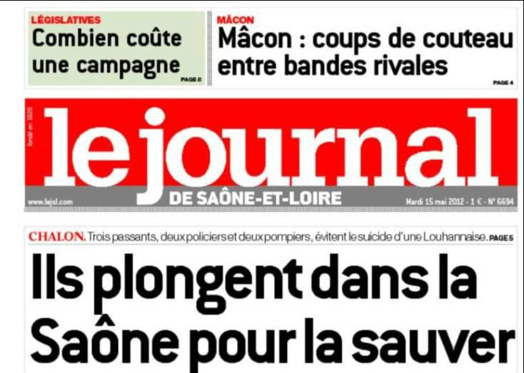 Journal d'annonces légales Le Journal de Saône-et-Loire